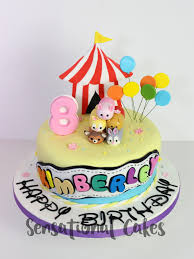 The Sensational Cakes Tsum Tsum Girl 3d Birthday Circus Theme