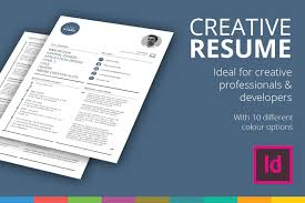 Resume Template Indesign Free Creative Résumé Template Resume Templates Creative Market 24