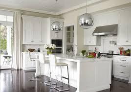 metal modern pendant light fixtures for elegant kitchen design with white kitchen island