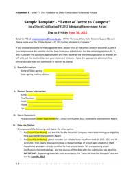 Fillable Online Fns Usda Sample Template Letter Of Intent To
