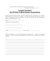 Sample Civil Complaint Form Classy Complaint Letter Example Samples In Word Response To Answer Template