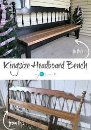 furniture repurpose ideas. How To Build A Kingsize Headboard Bench Easy Step By Tutorial Furniture Repurpose Ideas