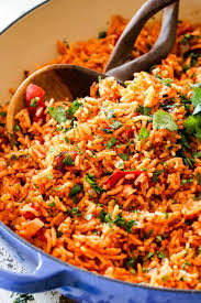 authentic mexican rice. Beautiful Authentic Authentic Mexican Rice With Fire Roasted Tomatoes In A Blue Skillet On Authentic Rice R
