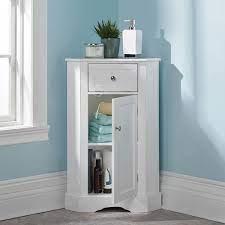 The Bathroom Corner Cabinet Hammacher Schlemmer