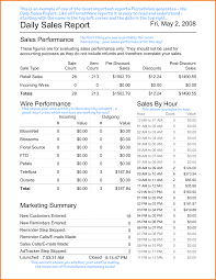 sales daily report 8 daily sales report template expense report