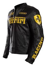 ferrari black leather jacket