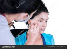 picture young makeup artist preparing model photo shoot doing makeup stock photo