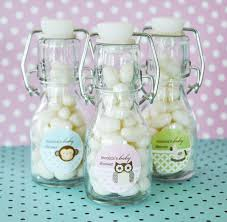 Baby Shower Personalized Mini Glass Bottle FavorsBaby Shower Personalized Gifts