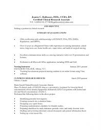 ... Clinical Research Associate Job Description Resume ...