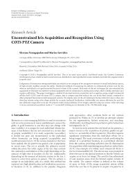 (PDF) Unconstrained Iris Acquisition and Recognition Using COTS ...