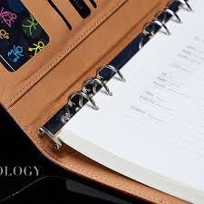 office agenda a6 a5 b5 a4 filofax business pu leather diary cover agenda blue wine