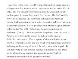 writing the dbq frq composed of dbq minutes leq minutes  even prior to the era of good feelings nationalism began growing in importance due to