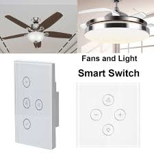 Light Switch For Fan And Light Eu Us Smart Light Switch Wifi Ceiling Fan Switch Wall Touch
