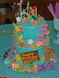 Ariel Cake Decorations Cashs Cakes Little Mermaid Cake