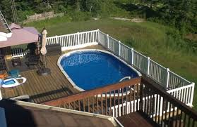 Above ground pool with deck attached to house 30 Ft Oval Above Ground Pool Deck Ideas Diy Design Decor 40 Uniquely Awesome Above Ground Pools With Decks