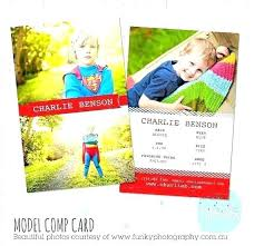Model Comp Card Template Instant Download Adobe Free Free