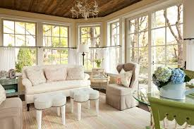 sunroom designs family room shabby chic with area rug casual ceiling chandelier clover foot