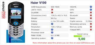 Haier V190 :: GSMchoice.com