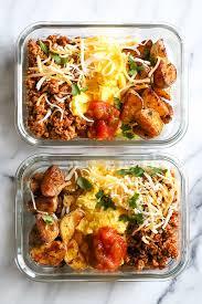 Weekly Lunch Prep Meal Prep Breakfast Taco Scramble