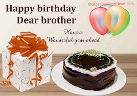 Happy Birthday Brother Greeting Card For Birthday Wishes To