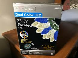 Holiday Brilliant Lights Remote 35 Holiday Brilliant Faceted C9 Dual Color Blue White Led Lights With Remote