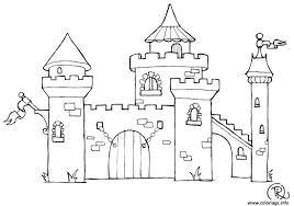 Coloriage Chateau Dessin