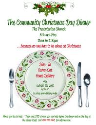 church christmas dinner invitation