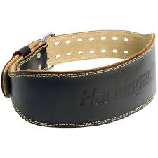 harbinger 4 padded leather weight lifting belt