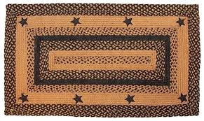 primitive country area rugs luxury barn star area rug black braided oval primitive country