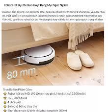 Robot Hút Bụi Và Lau Nhà Thông Minh MEDION MD 19510 – Robot 2 In 1 - Chuẩn  Authentic