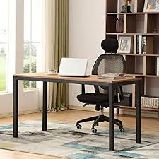 home office table. AUXLEY Computer Desk 55 Inch Modern Simple Office Writing For Home  Office, Double Deck Wood And Metal Table Teak Black Home Office Table D