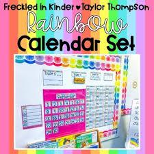 Rainbow Calendar Set Target Calendar Pocket Chart