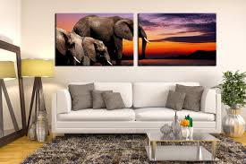 large animal canvas wall art