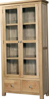 Oak hutch with glass doors - tomfoolerys.info