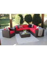 image modern wicker patio furniture. Alexandra 7-PC Modern Outdoor Rattan Patio Furniture Sofa Set-Modular (jock  Red Image Modern Wicker Patio Furniture U