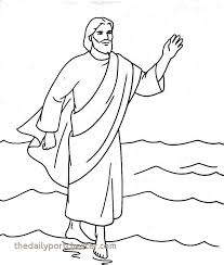Jesus Walks On Water Coloring Page Unique Jesus Christ Coloring