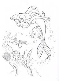 Printable Little Mermaid Coloring Pages Coloringmecom