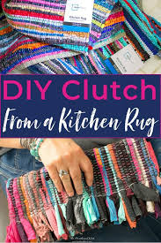 how to make a diy purse from a kitchen rug this adorable diy