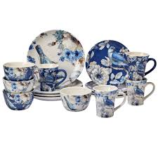 blue dinnerware sets. Modren Blue Shop Certified International Indigold 16 Piece Dinnerware Set  On Sale  Free Shipping Today Overstockcom 15890336 To Blue Sets E