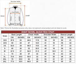 Fleece Jacket Size Chart Size Charts