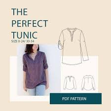 Tunic Pattern Magnificent The Perfect Tunic Sewing Pattern Wardrobe By Me PDF Sewing Pattern