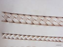 in this one no bevelling was done before the basketweave was stamped with the f910 along the lines