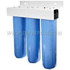 Big Water Filter Systems Pentek Bbfs 222 Three Big Blue Housing Water Filtration System