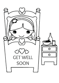 Get Well Soon Printable Coloring Pages Get Well Coloring Pages Get