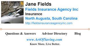 Jane Fields - Fields Insurance Agency Inc - Insurance - North Augusta -  South Carolina - 29841   Art Of Saving