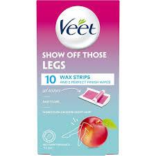 veet show off those legs wax strips 10