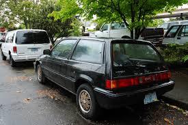 OLD PARKED CARS.: 1986 Honda Civic Si