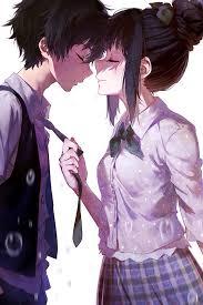anime couple cute anime couples kissing