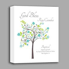 canvas baptism gift gift from pas christening gifts for baby boy personalized nursery