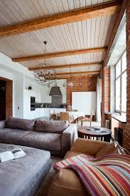 brick walls. Industrial Vintage Modern Apartment Interior Brick Walls